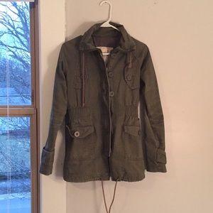Jackets & Blazers - Green Utility Jacket Size S